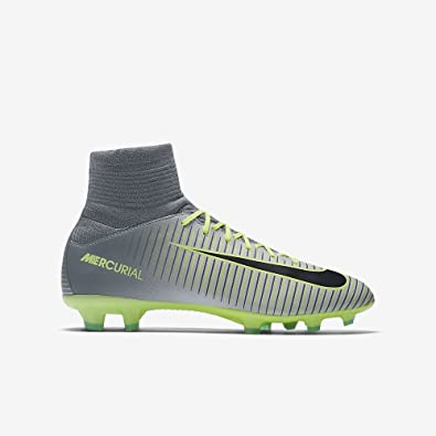 Nike Youth Mercurial Superfly V Firm Ground Cleats [PURE PLATINUM] (4Y)
