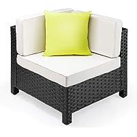 London Rattan Outdoor Modular Furniture, Black