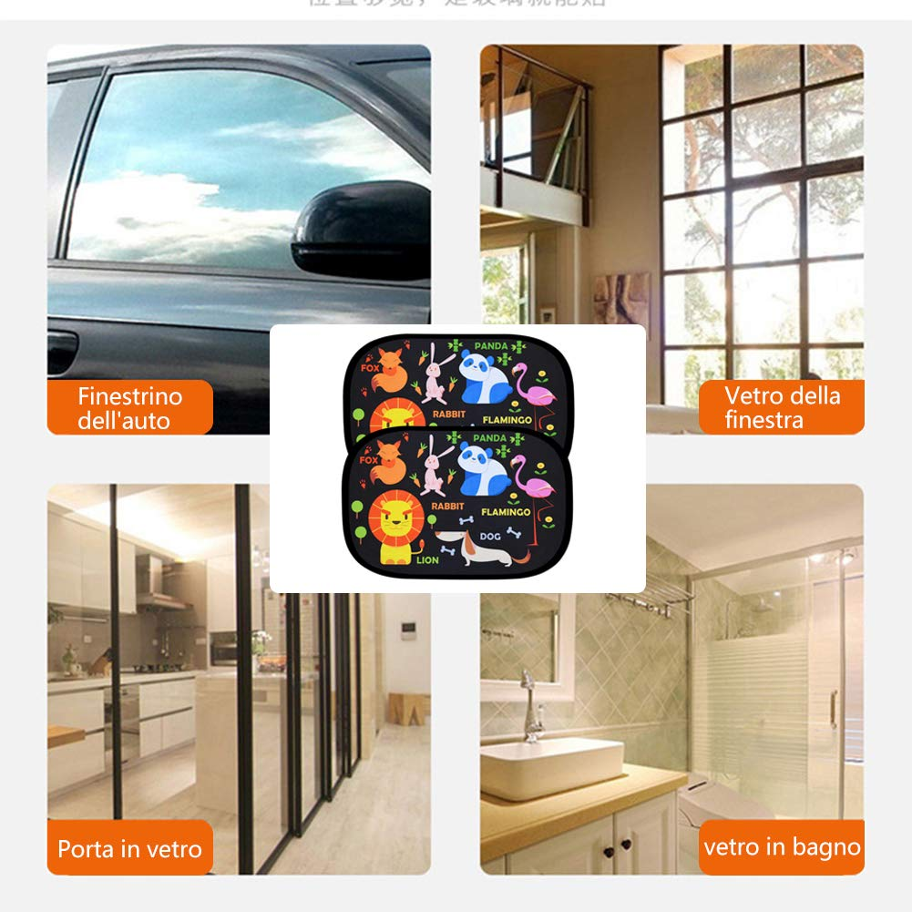 astarye Solar Protection Car SunShade Side Window Windscreen Roof Window for Children Adults Adsorption Electrostatic