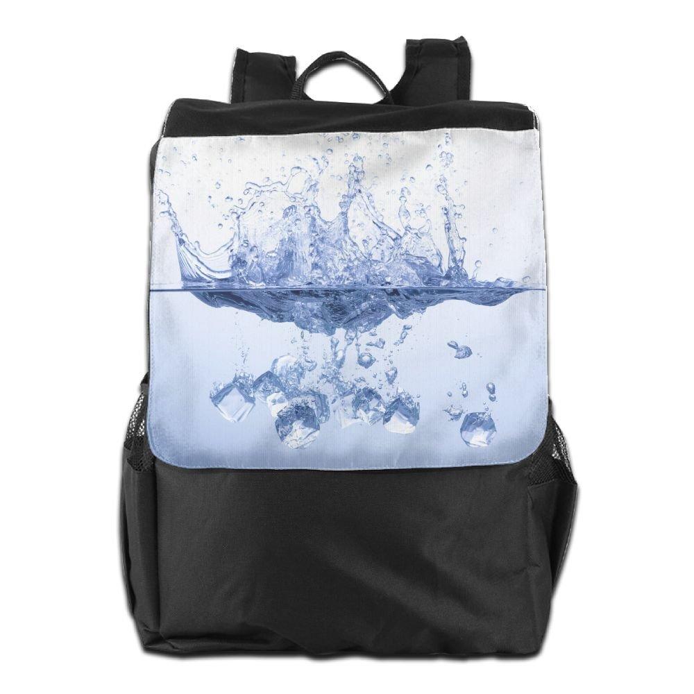 Arsmt アイスキューブ 水の中 アウトドア バックパック リュックサック ラップトップバッグ B07K8N91R1 Black 80 One Size