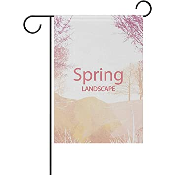 Amazon com : Sunset Spring Landscape Double-Sided Printed