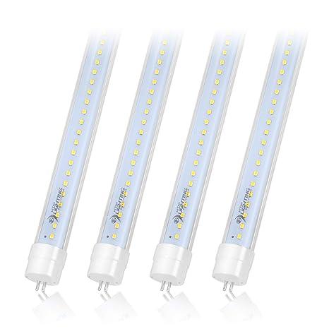 4-Pack Of 4ft 22W T5 High Output LED Light Tube, 45 75