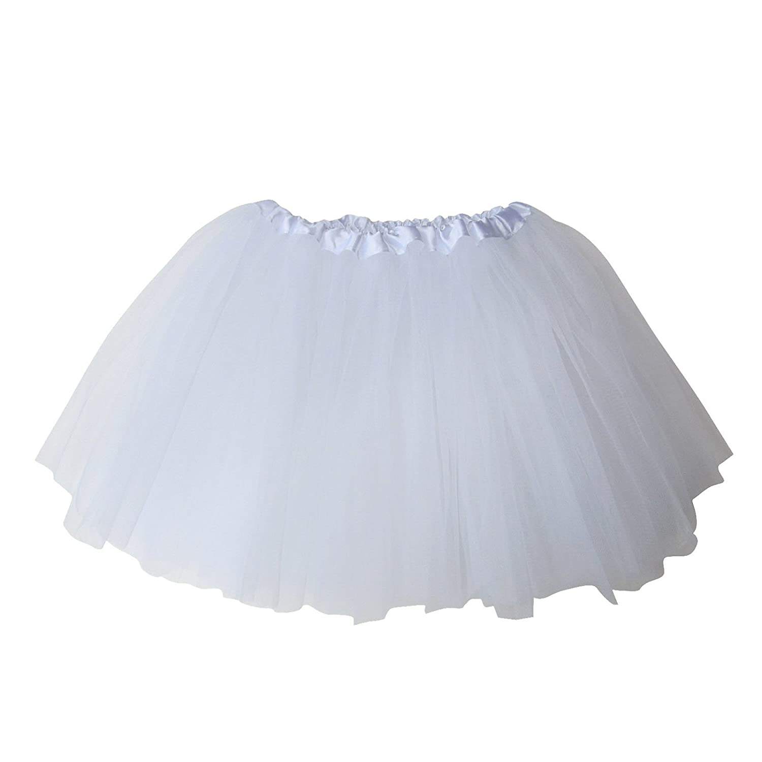 TraderPlus Adult Women's Classic Elastic, 3-Layered Tulle Tutu Skirt Ballerina Running Party Skirt