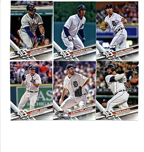 2012, 2013, 2014, 2015, 2016, 2017, 2018 Topps Baseball Card Team Sets (Complete Series 1 & 2 From All 7 Years) 150+ Detroit Tigers inc. Miguel Cabrera, Justin Verlander, Justin Upton, J.D. Martinez, Ian Kinsler, plus more Rookies, in 7 acrylic cases (2015 Tigers Baseball Cards)
