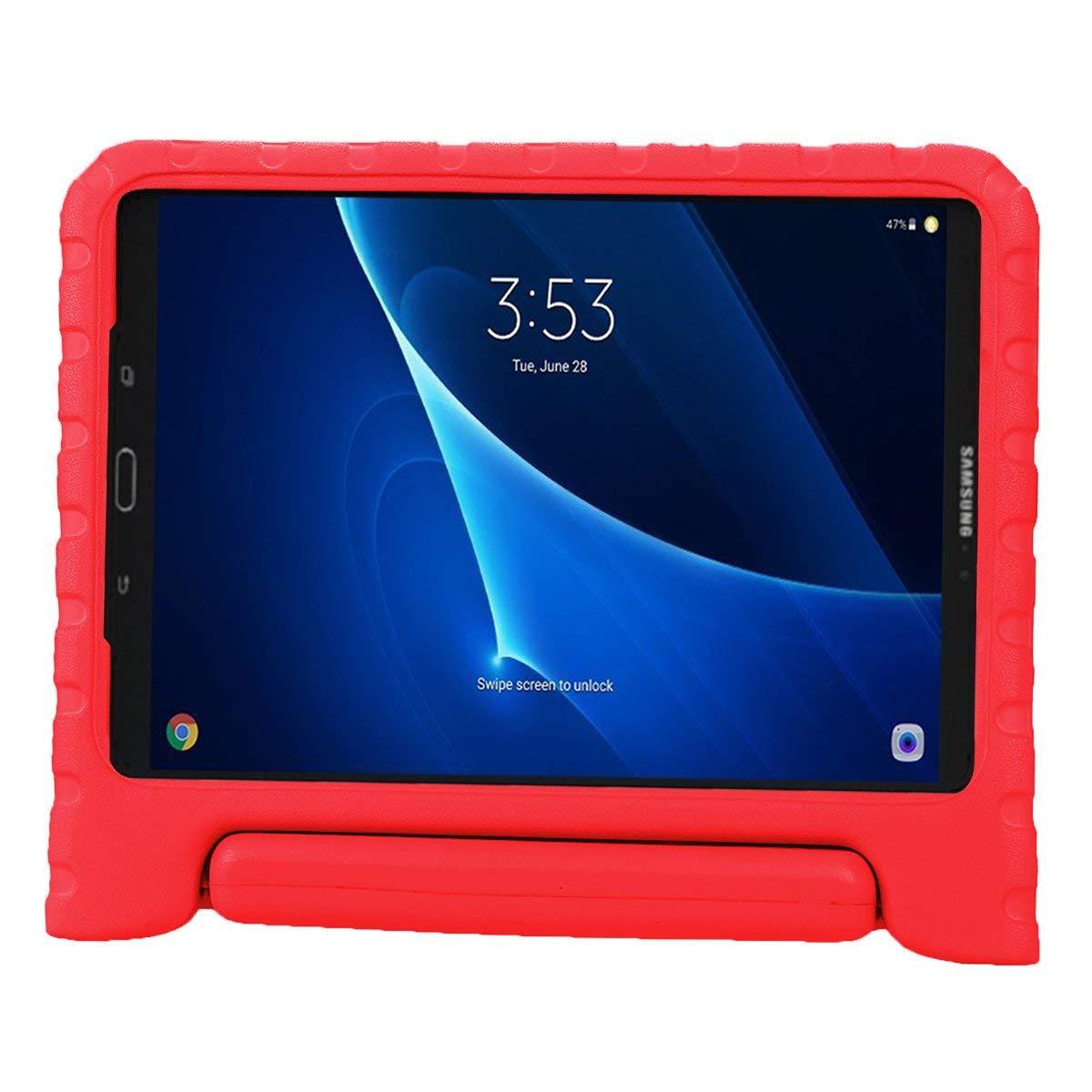 LEADSTAR Coque pour Samsung Galaxy Tab A 10.1 EVA Etui Poign/ée Stand /Étui Enfants Housse Antichoc Protecteur Kids Coque Anti-Chocs pour Samsung Galaxy Tab A 10.1-pouces SM-T580 SM-T585 Nior