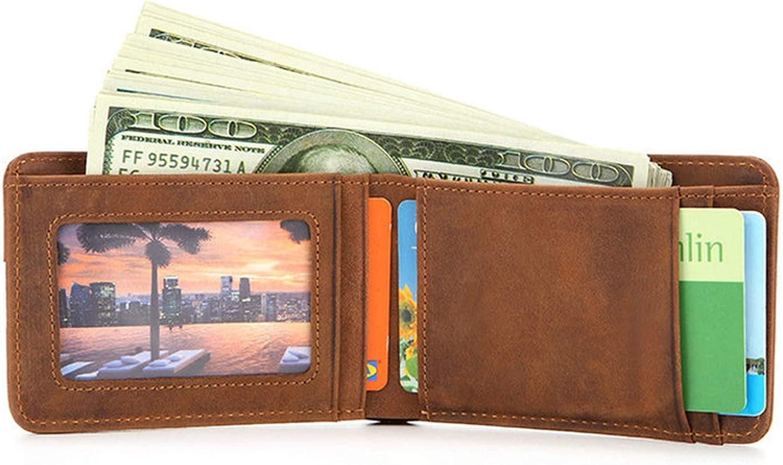 Slim Wallets For Men Cow Leather Short Mini Men Wallet Thin Male Purse
