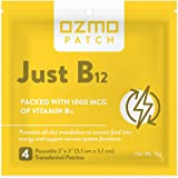 Ozmo Patch Just B12 Vitamin B12 1000 mcg Patches Stress and Anxiety Relief,Brain,Depression,Pregnancy,and Immune System Suppo