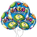 Happy Birthday Golf Themed 18'' Round Mylar Balloon 3pk