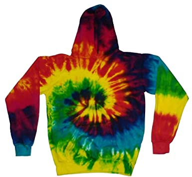 8452abcddf28 Tie Dye Multicolored Reactive Hoodie Sweatshirt Pullover Kids and Adult  (Small)