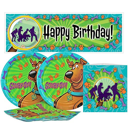 Birthday Direct Scooby Doo Value Party Kit for Up to 16 Guests Includes Plates, Napkins, Banners, and Decorations - 37 pieces - Mystery Crew, Dog Party Supplies for Girls Birthday, Boys Birthday, Sleepover