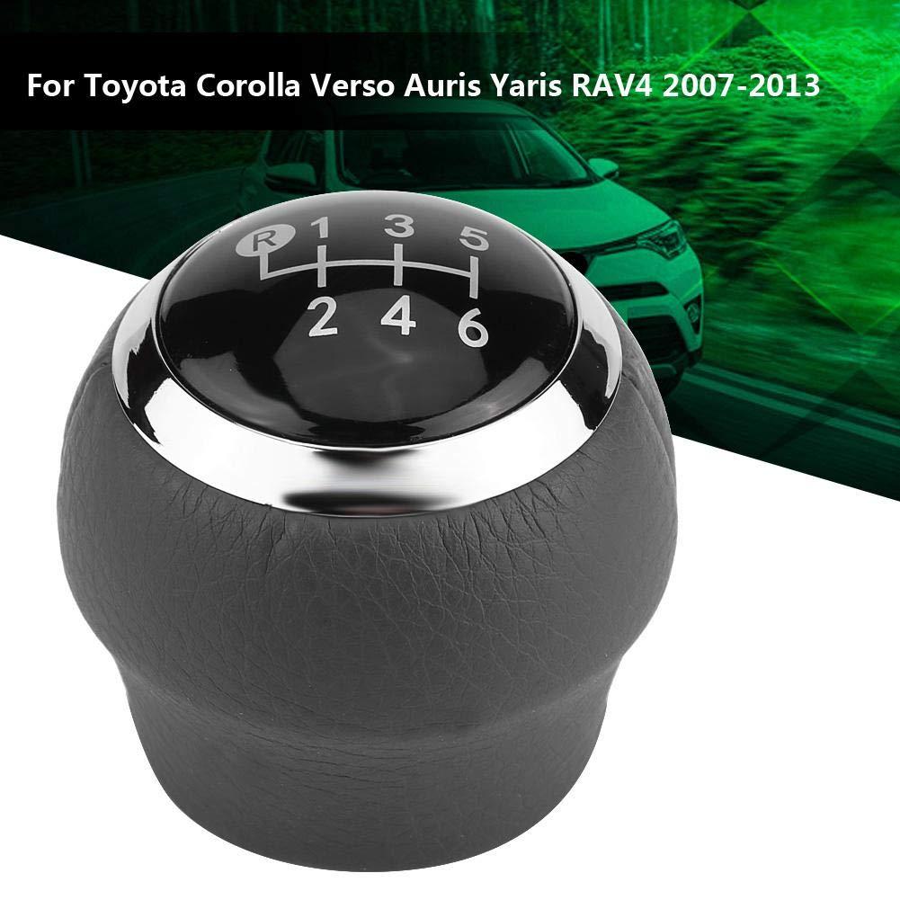 Perilla de cambio de marchas Perilla de palanca de cambios de marchas de 6 velocidades del coche para Toyota Corolla Verso Auris Yaris RAV4 2007-2013.