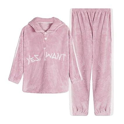 DUKUNKUN Pijamas De Invierno Pareja Abrigos Gruesos Ropa Casual Mujer con Capucha Traje Casual Informal,