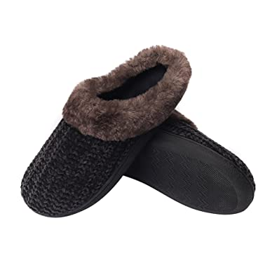 a7e0bd0d9f1 Beatific Bee House Slippers for Women Soft Slip-on Knitted Upper Memory  Foam Indoor Shoes