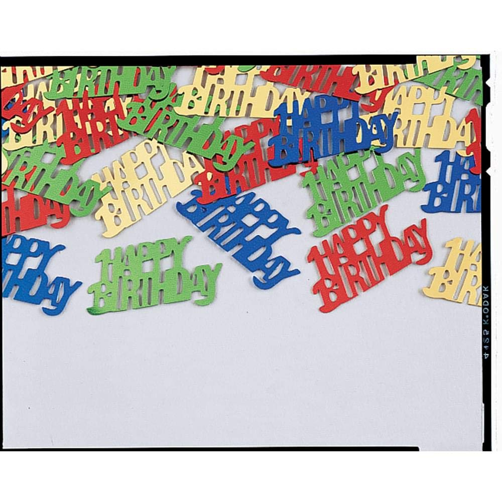 Creative Converting Confetti Happy Birthday Party Supplies One Size 21277 Multicolor