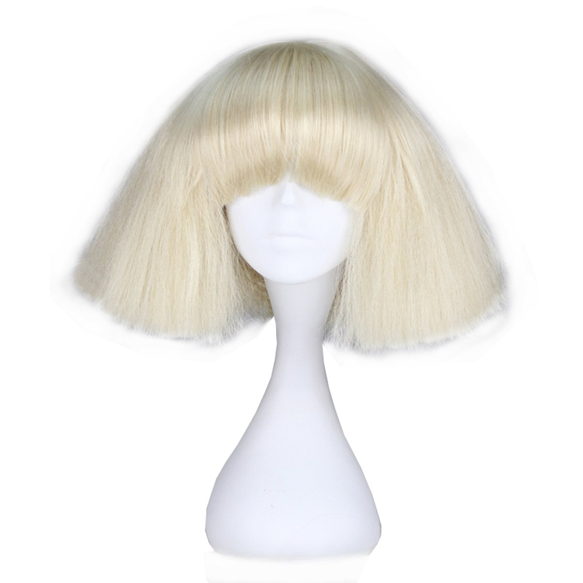 Miss U Hair Short Kinky Straight Wig Blonde Fashion Party C090