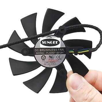 New GPU Cooler Video Card fan For EVGA PLA09215B12H DC12V 0.55A 4PIN