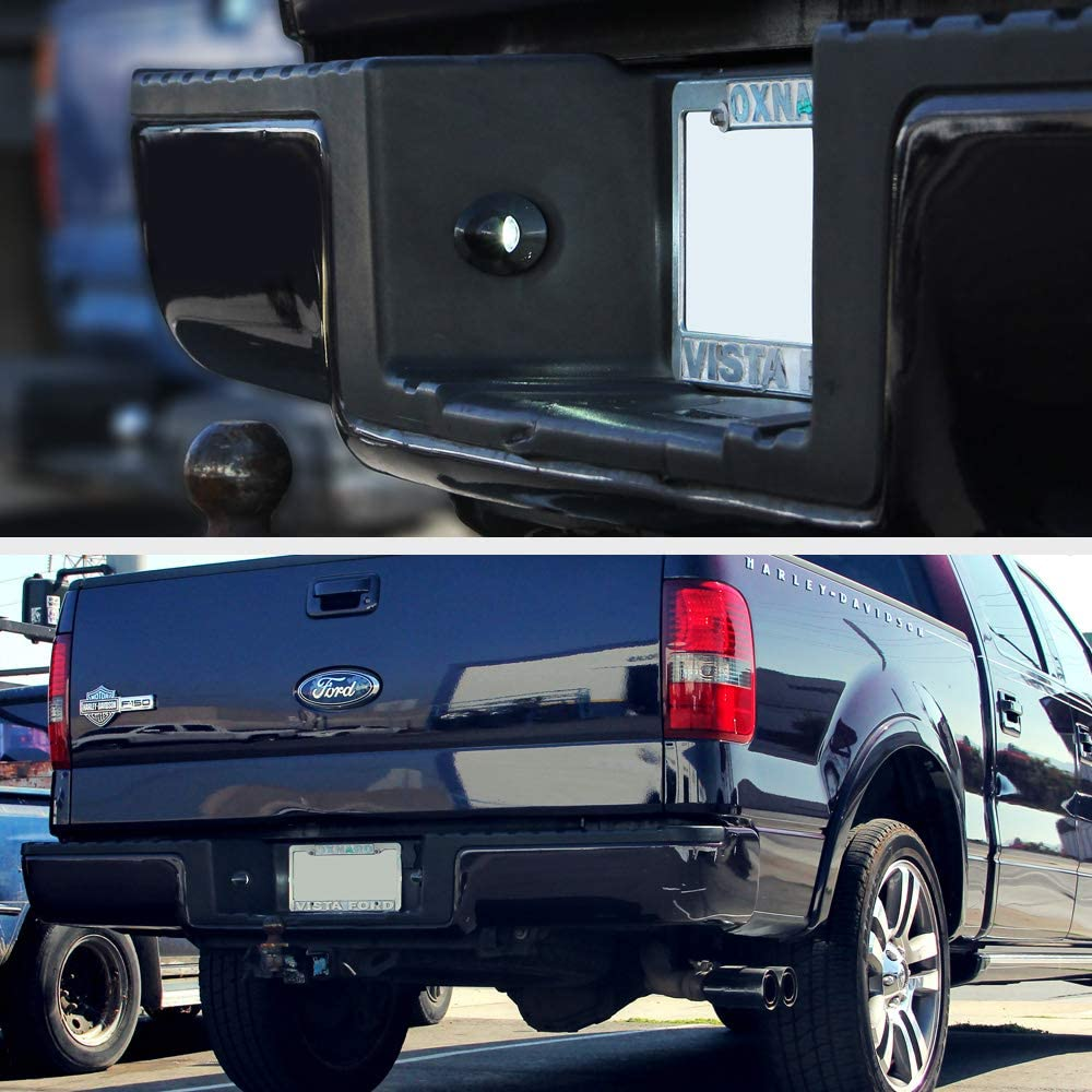 6000K Diamond White VIPMOTOZ Full LED License Plate Light Lamp Assembly Replacement For Ford F-150 F-250 F-350 F-450 F-550 Super Duty Ranger Pickup Truck Explorer Bronco Excursion Expedition 2-Piece