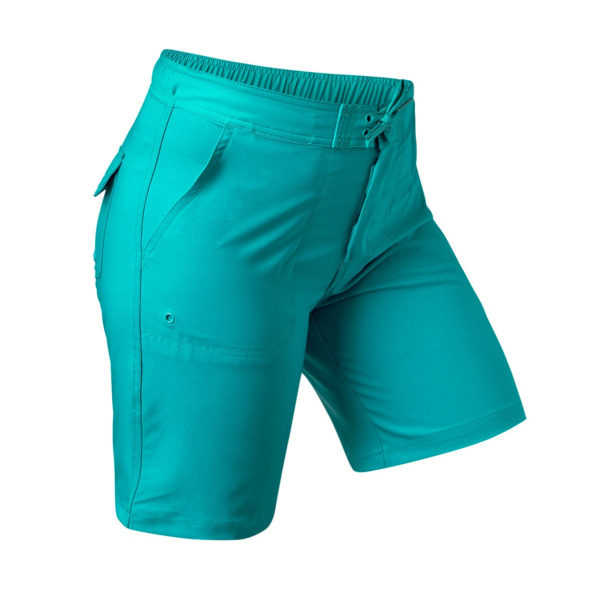 UV SKINZ UPF50+ Womens Board Shorts-Teal-XL