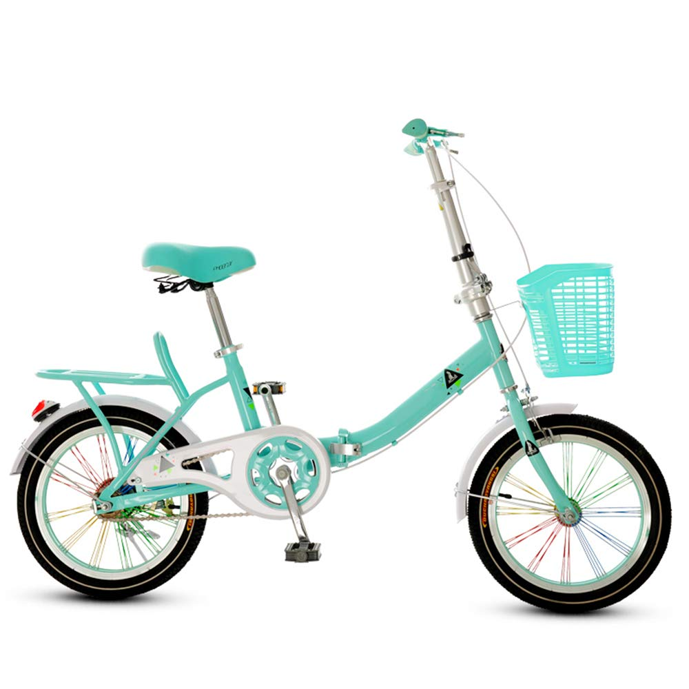 YANGFEI ベビーカー 自転車、折りたたみ自転車軽量フレーム、RVの、ボート、アパート、小空間生活。 16インチ、20インチ ショックアブソーバタイヤ (色 : 青, サイズ さいず : 20 inch) 20 inch 青 B07MR8566N