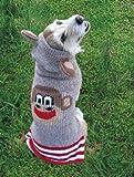 Chilly Dog Hoodie Sweaters 100 % Wool Medium Monkey, My Pet Supplies