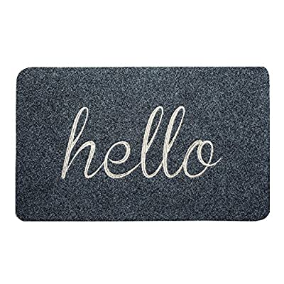 BIGA Front Welcome Entrance Doormat, Hello Funny Door Mat for Indoor/Outdoor, Entry, Garage, Patio, High Traffic Areas, Shoe Rugs.
