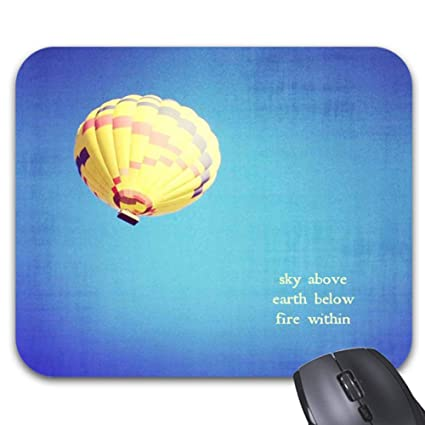 Amazoncom Hot Air Balloon Quote And Saying Mouse Pad 118 X 98