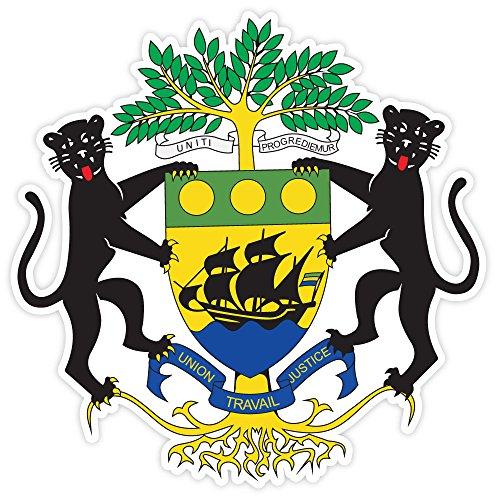 Gabon Coat - Gabon coat of arms sticker decal 4
