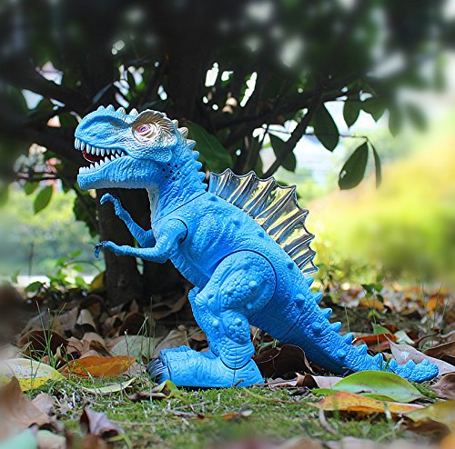T-Rex Electronic Walking Dinosaur with Flashing Lights and Realistic Animal Sounds (Blue) by Vabliss (Image #3)