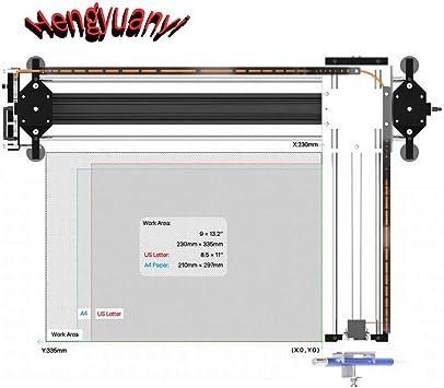 GKDraw X3 DIY Corexy XY GRBL Rastrador de Dibujo máquina Kit de Letras Robot Art CNC Escritura Robot Juguetes Módulo Laser estándar: Amazon.es: Informática