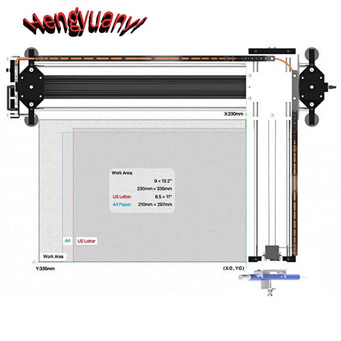 GKDraw X3 DIY Corexy XY GRBL Plotter Drawing Machine Kit Lettering ...