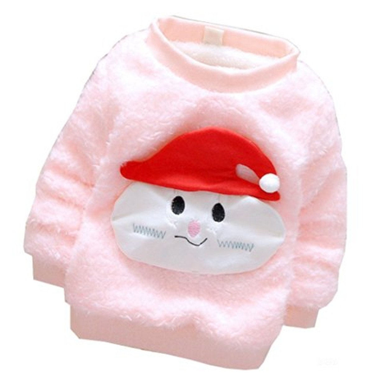 JELEUON Little Girls Baby Furry Cute Bear Comfortable Soft Thick Wool Sweater