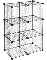 AmazonBasics 6 Cube Wire Storage Shelves