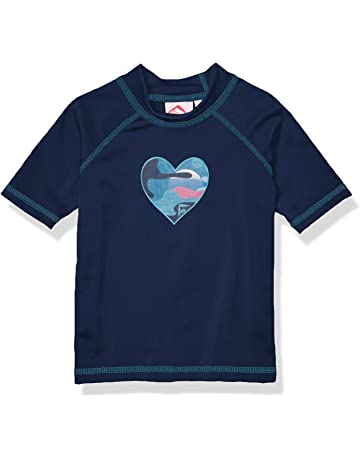 d1ab8a7481d66 Kanu Surf Girls' Karlie UPF 50+ Sun Protective Rashguard Swim Shirt