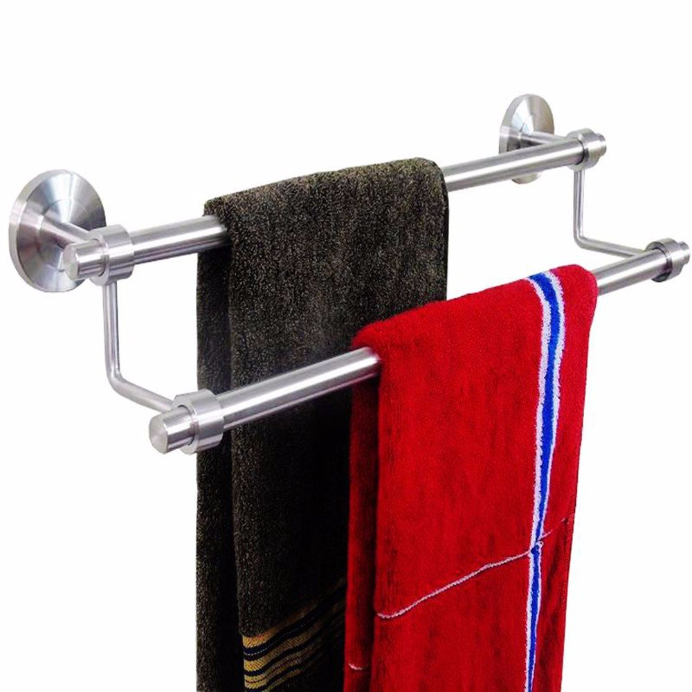 Yomiokla Bathroom Accessories - Kitchen, Toilet, Balcony and Bathroom Metal Towel Ring Suction Cup Clothes Rack-Mounted Window Drying Racks Inside Iraq of Hanger Hook Towel Hook