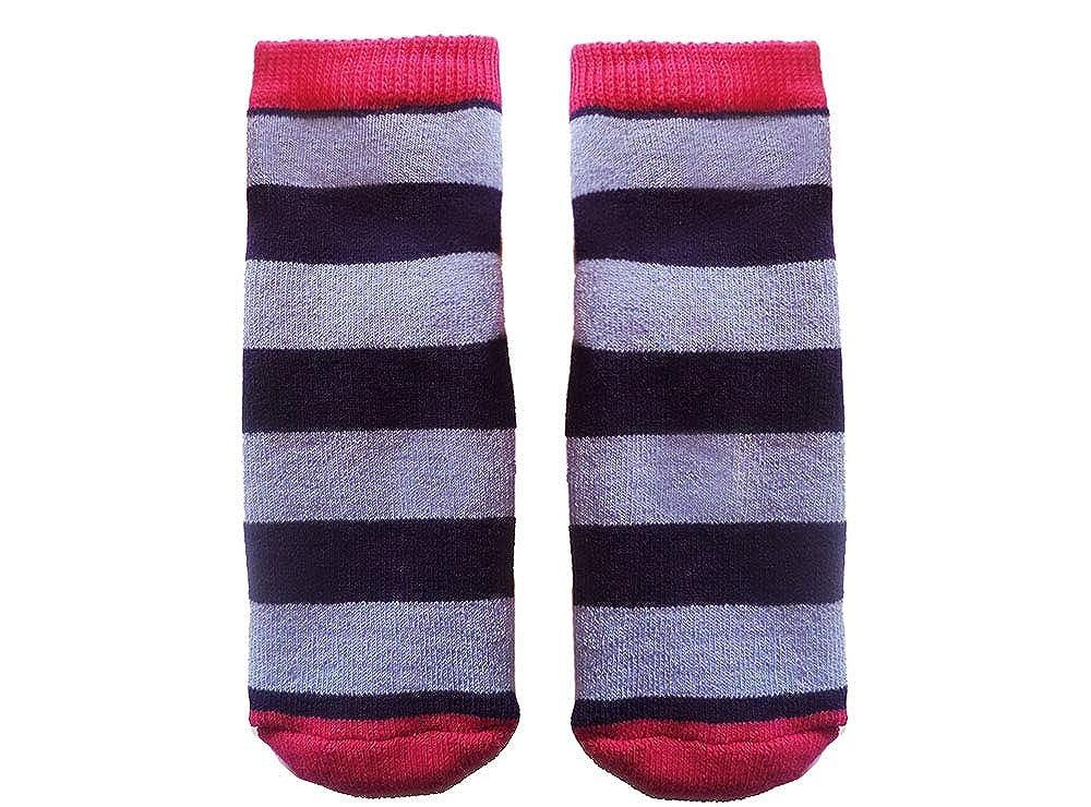 Weri Spezials Unisexe Bebes et Enfants ABS Eponge Strie Pantoufle Chaussons Chaussettes Antiderapants Pink+Lilac+Bleu