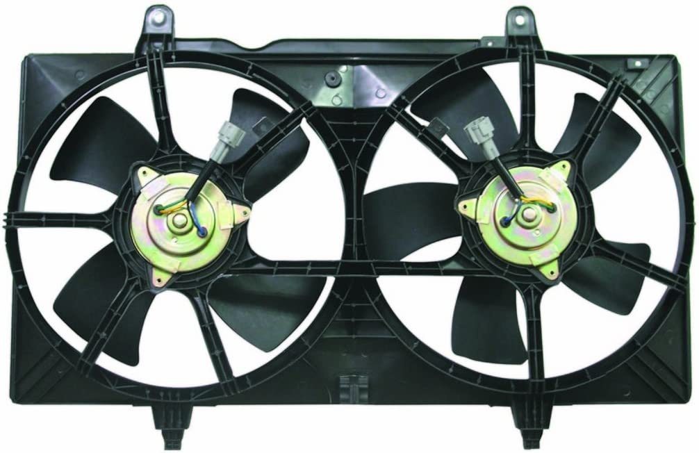 Dual Radiator and Condenser Fan Assembly - Cooling Direct For/Fit NI3115121 NI3115116 02-06 Nissan Altima 2.5/3.5L 04-08 Maxima