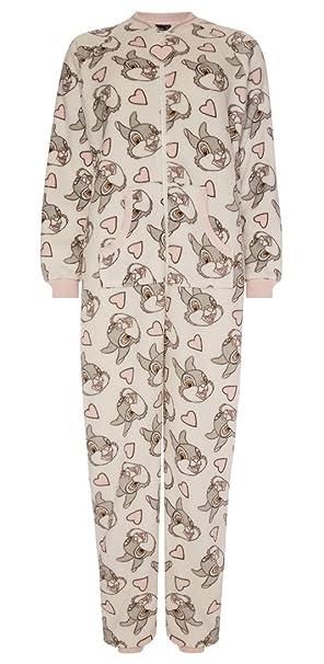 Primark - Pijama de una Pieza - para Mujer Blanco Blanco M