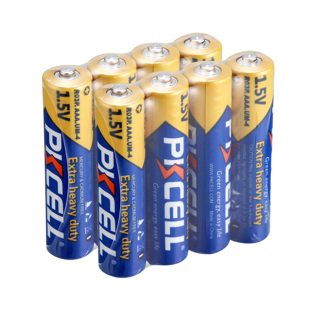 AA 1.5V Primary and Dry Battery R6P (Count:8Pcs) (AA, Yellow) PKCELL R6P-4B-2
