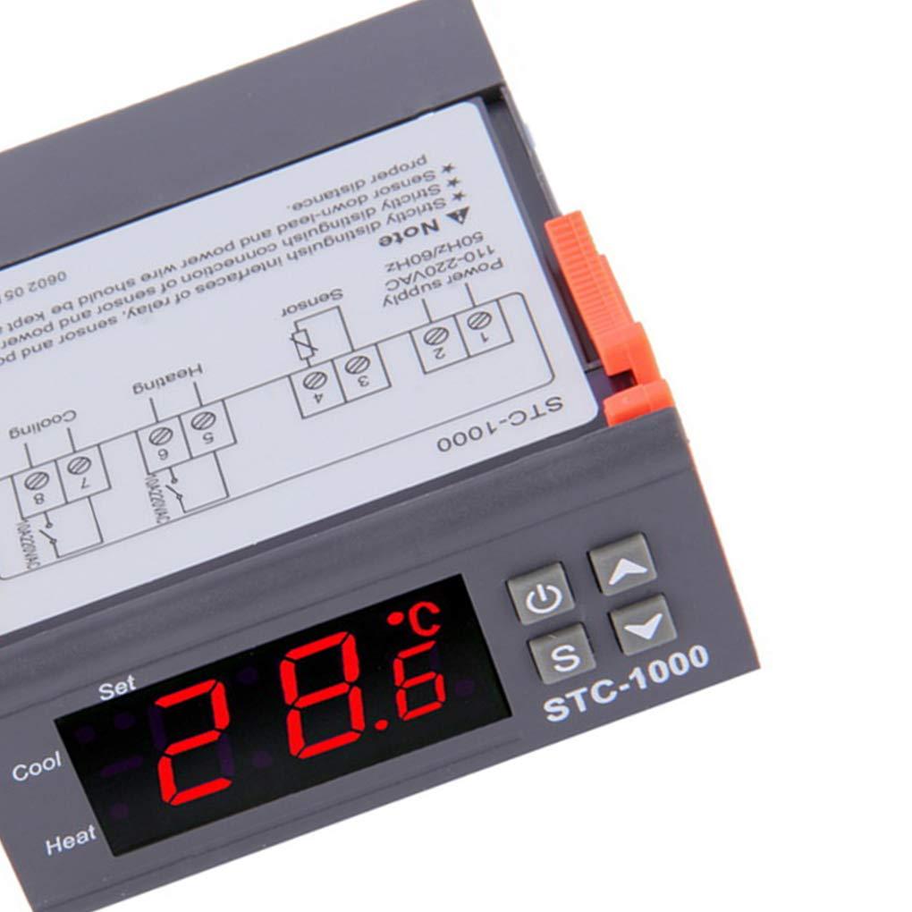 Topker Mini Stc 1000 Digital Temperature Controller 50 Regulator Thermostat Cool Heat Stc1000 110 Display Screen Aquarium Seafood Machine Home Kitchen