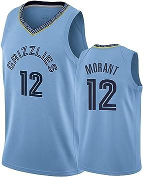 DCE Jersey de Hombre Ja Morant Memphis Grizzlies #12 Jersey de Malla de Baloncesto Juvenil, Ropa Deportiva de Secado rápido sin Mangas Camiseta de Baloncesto Swingman Jersey: Amazon.es: Deportes y aire libre