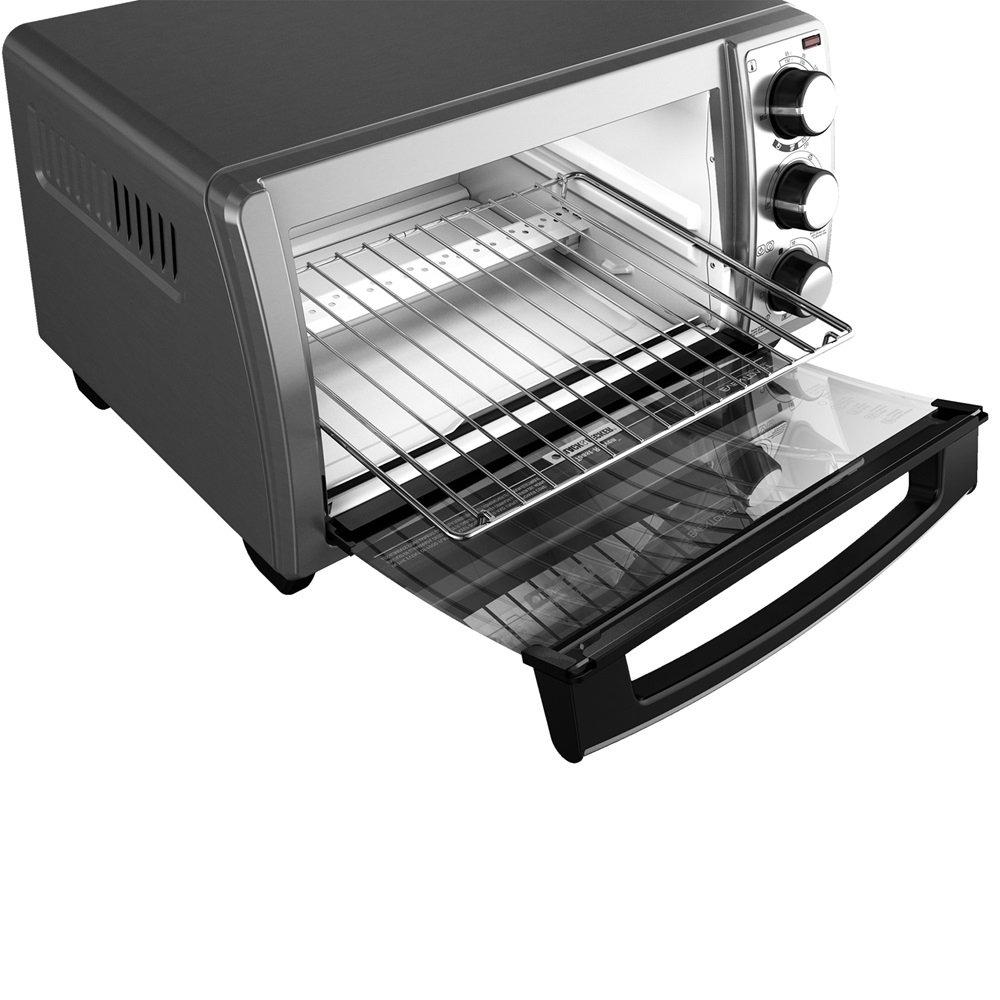 Black & Decker TO1373SSD - Horno (Horno eléctrico, 0-450 °C, Plata, Giratorio, Acero inoxidable, 30 min): Amazon.es: Hogar