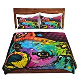 DiaNoche Designs Dean Russo-Huh Chihuahua Dog Brushed Twill Home Decor Bedding Cover, 8 King Duvet Sham Set