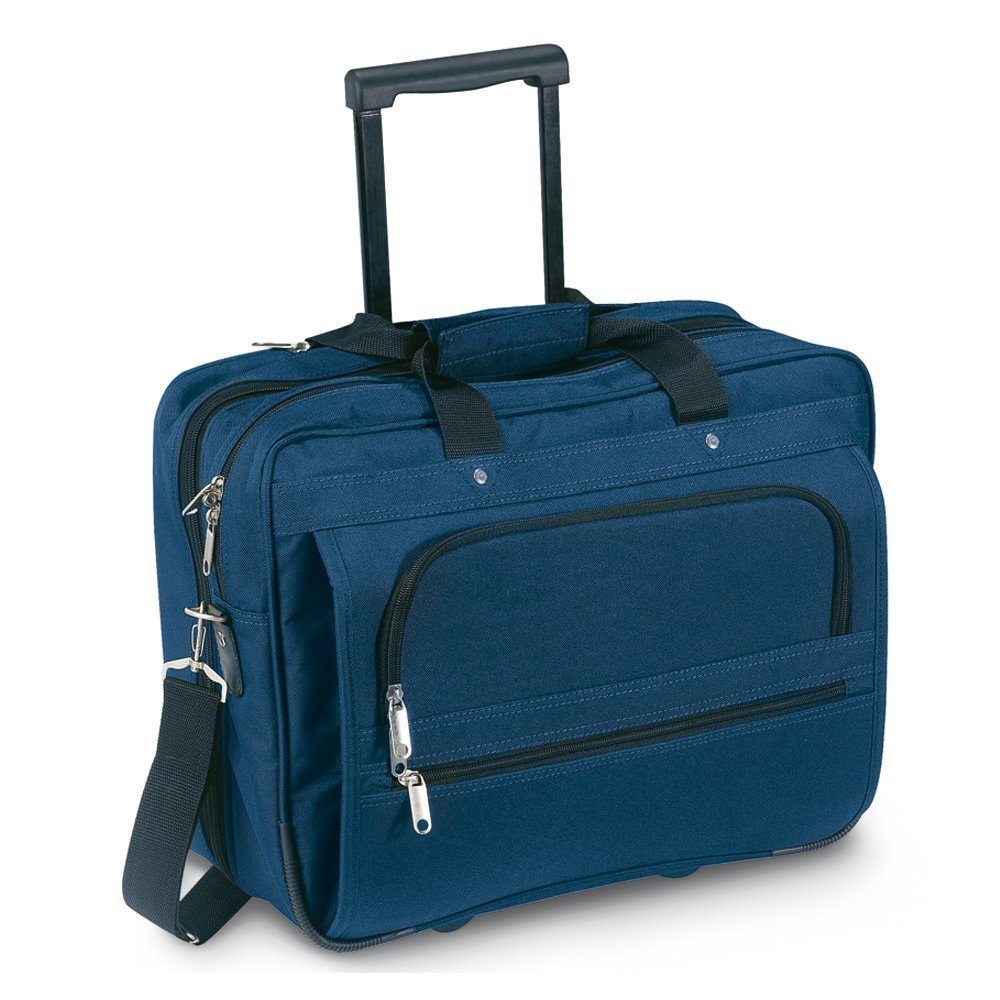 Blue Cabin Flight Trolley Wheeled Case eBuyGB Executive Business Laptop Bag