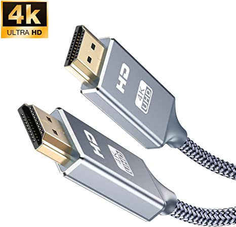 PS4 Player HDMI Kabel 7,5Meter-Snowkids High Speed HDMI Kabel aus Geflochtenem Nylon Unterst/ützt 3D//Audio R/ückkanal//HDMI Kabel f/ür Blu-ray PS3 HD TV und Bildschirmger/äte-Grau