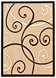 Maxy Home Ephes Collection EP-4052 Soft Anti-Bacterial Area Rugs, 58'' W X 82'' L