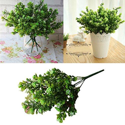 Beautyrain Flores Artificiales Falso arbustos Arreglos de Ramo Falso Simulación Arbustos de vegetación Interior Exterior...