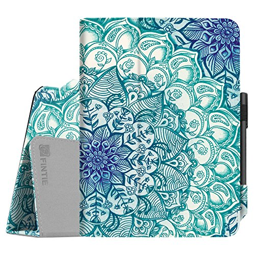 Fintie Folio Case for Samsung Galaxy Tab S3 9.7, [Corner Protection] Premium PU Leather Stand Cover with S Pen Protective Holder Auto Sleep/Wake for Tab S3 9.7 (SM-T820/T825/T827), Emerald Illusions