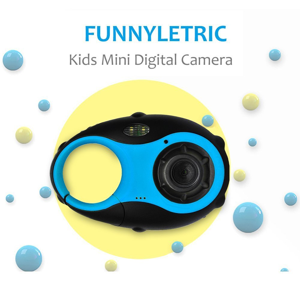Kids Digital Camera, Funnyletric Mini Digital Video Recorder Camcorder Camera, for Boys Girls Birthday Camera Toy - 12MP HD 1.5'' Colour Screen (Blue)