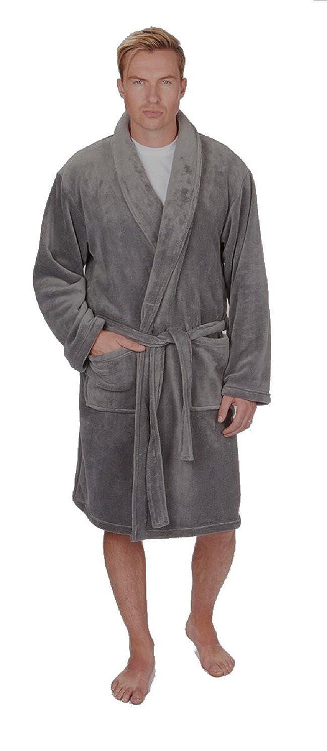 ea5cacafbc Mens Plain Supersoft Fleece Dressing Gown Bath Robe ~ Medium to 5XL ~ Upto  64