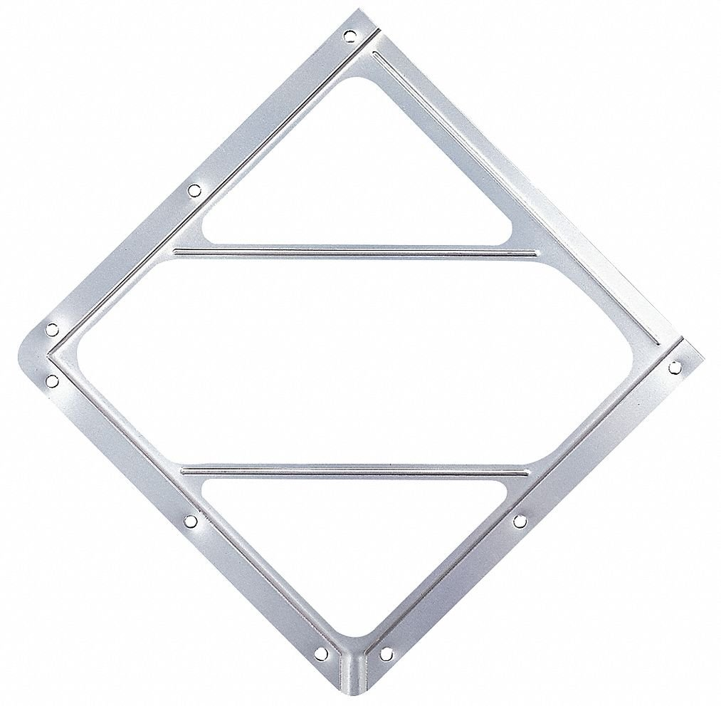 Anodized Aluminum No Back Plate Labelmaster 80SM-01 Slidemaster Hazmat Placard Holder